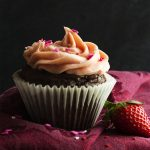 Rich Chocolate Cupcakes with Strawberry Frosting