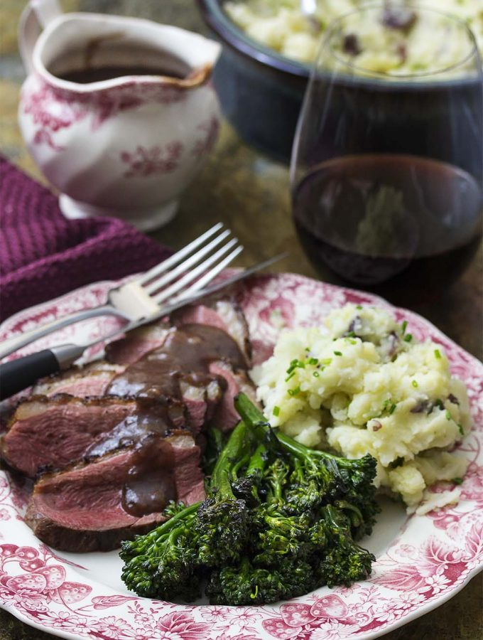 Seared Duck Breast with Port Cherry Sauce