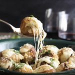 Crispy Chicken Parmesan Meatballs Stuffed with Mozzarella