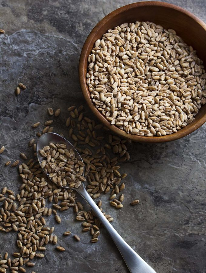 What is farro? Where does it come from? How do you cook it? All these questions and more answered in this ingredient spotlight! | justalittlebitofbacon.com