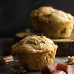 Rhubarb Muffins with Cinnamon and Walnuts