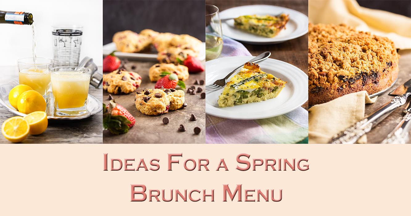 ideas for a spring brunch menu - just a little bit of bacon