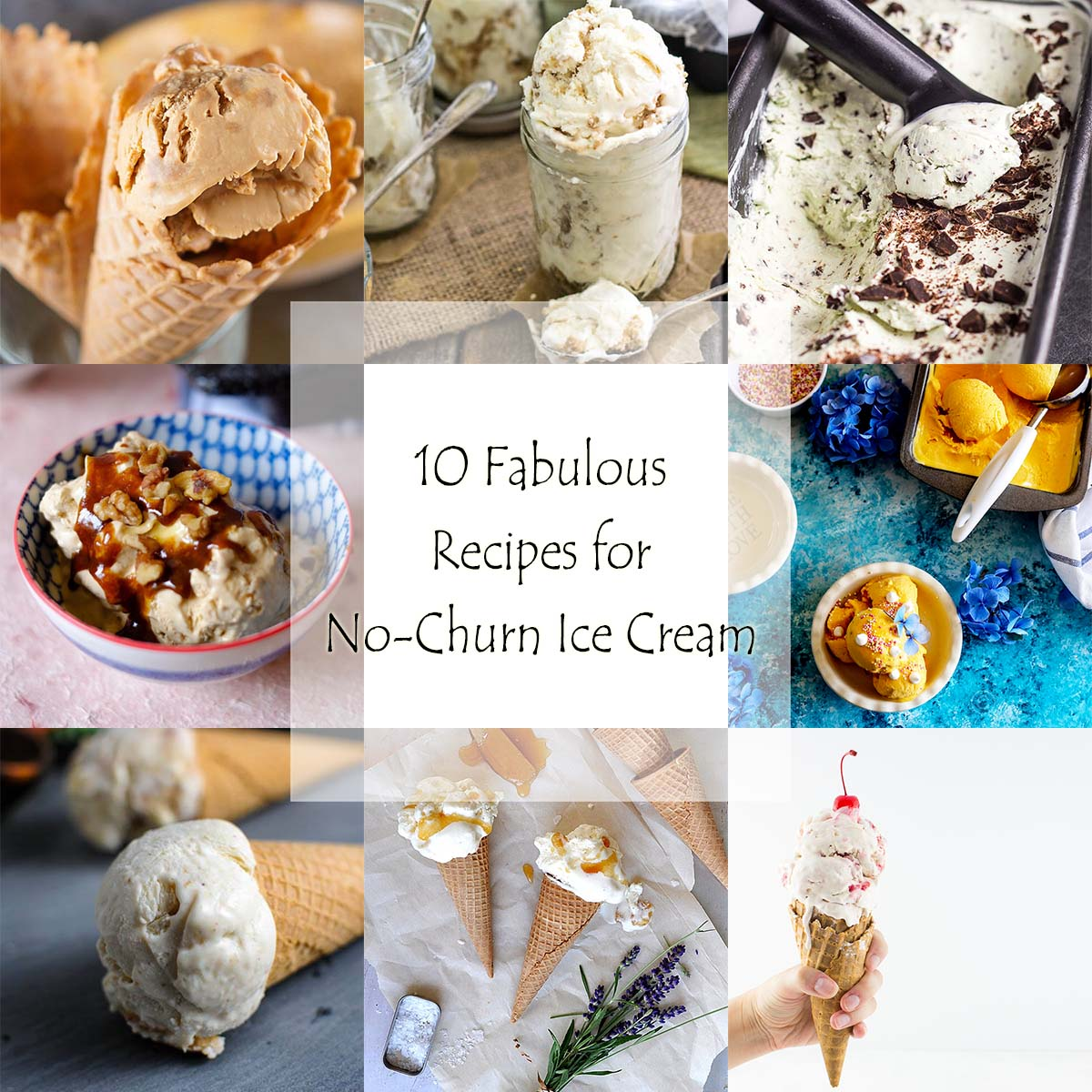 No ice cream machine? No problem! Here are 10 fabulous recipes for easy, no-churn ice cream that will have you making ice cream all summer long. | justalittlebitofbacon.com