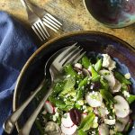 Spring Radish and Snap Pea Greek Salad