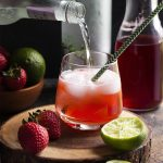 Strawberry Ginger Caipirinha Cocktail