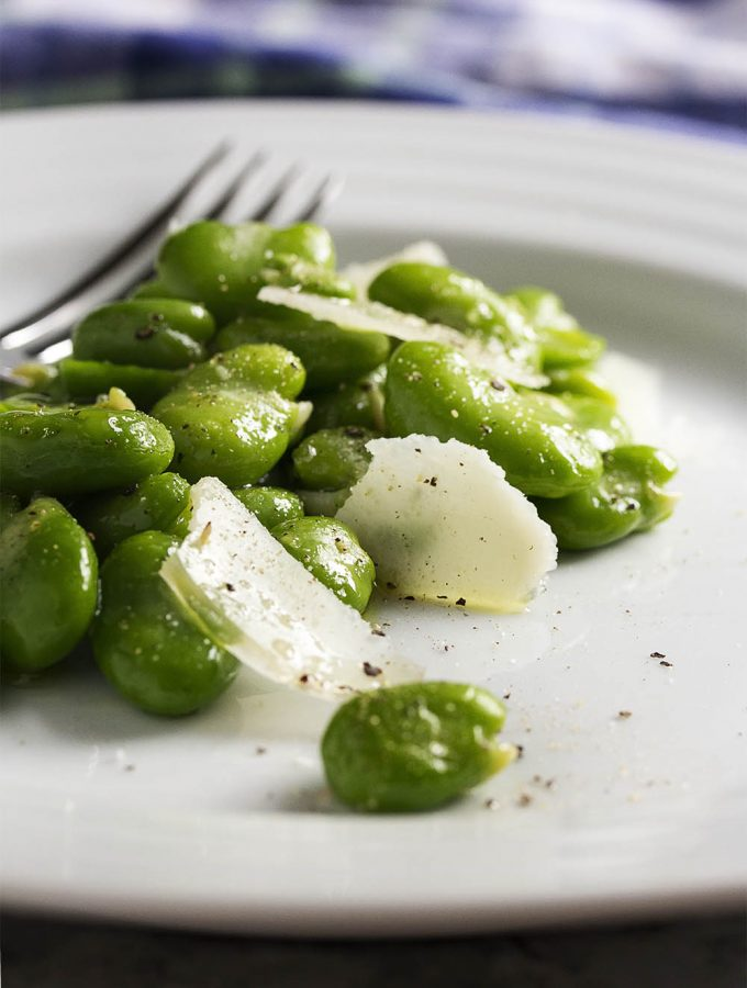 Fresh Fava Bean and Parmesan Salad