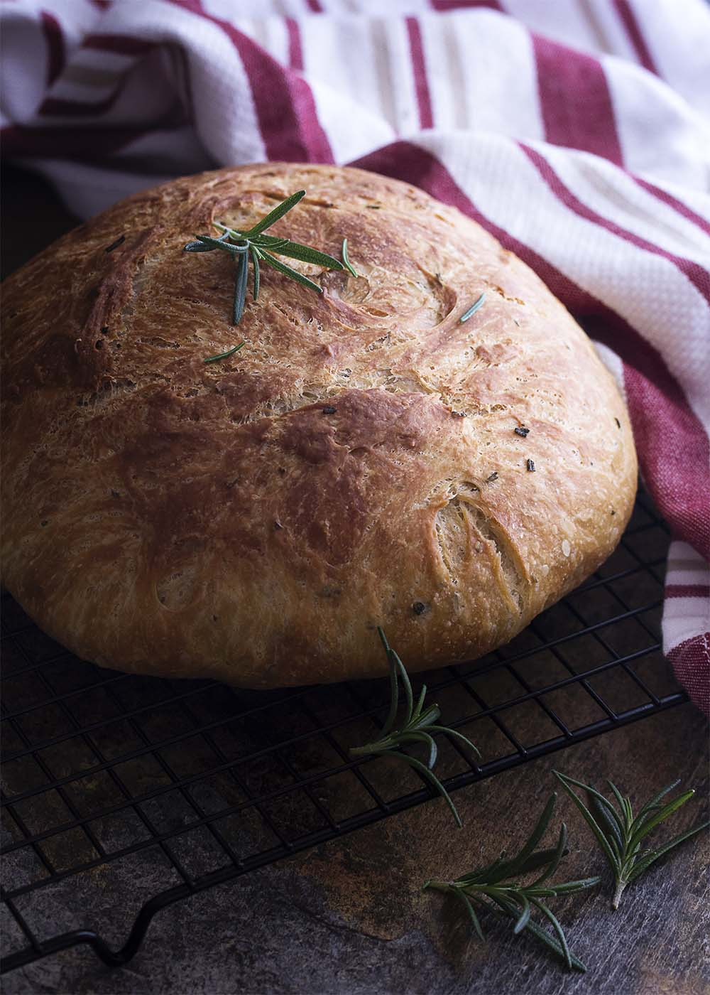 Olive Oil And Rosemary No Knead Bread Just A Little Bit Of Bacon