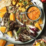 Spanish Grilled Pork Tenderloin with Peaches and Radicchio