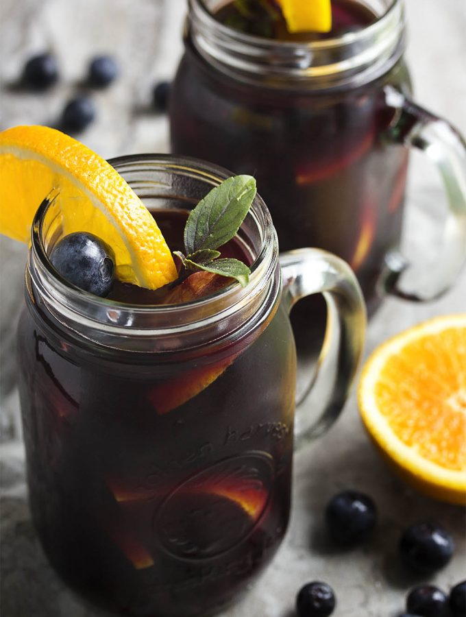 Summertime Blueberry Sangria