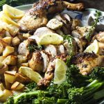 Butterflied Grilled Whole Chicken with French Herbs and Shallot Butter
