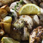 A French herb rub, a sweet and spicy glaze, and a caramelized shallot butter all combine to make a grilled whole chicken full of layered flavors.   justalittlebitofbacon.com