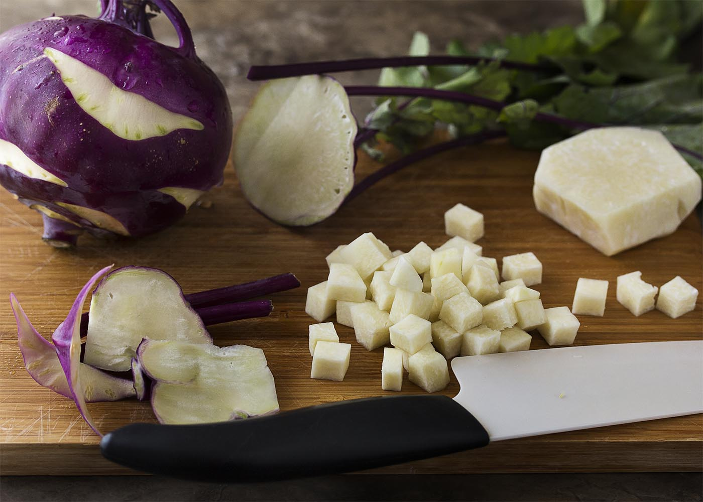 What is kohlrabi? What does it taste like? How do you cook with kohlrabi? These questions and more answered in this ingredient spotlight!   justalittlebitofbacon.com