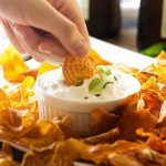 Homemade root vegetable chips are a great change from the usual potato and tortilla chips! Crispy, fried, and full of flavor. | justalittlebitofbacon.com