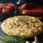 Garlic Thyme No-Knead Focaccia