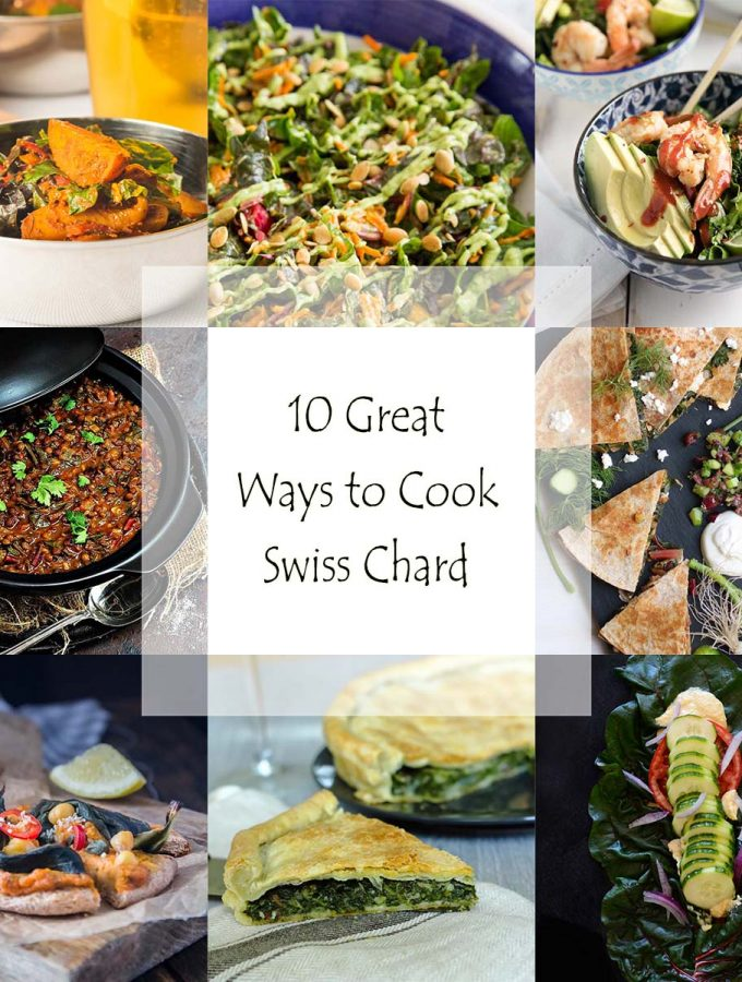 Looking for some new ways to cook Swiss chard? I have here a great roundup of interesting recipes for taking Swiss chard beyond the saute. | justalittlebitofbacon.com
