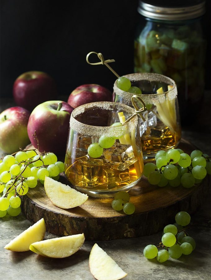 Awesome Maple Old Fashioned Cocktail with Apple Bourbon