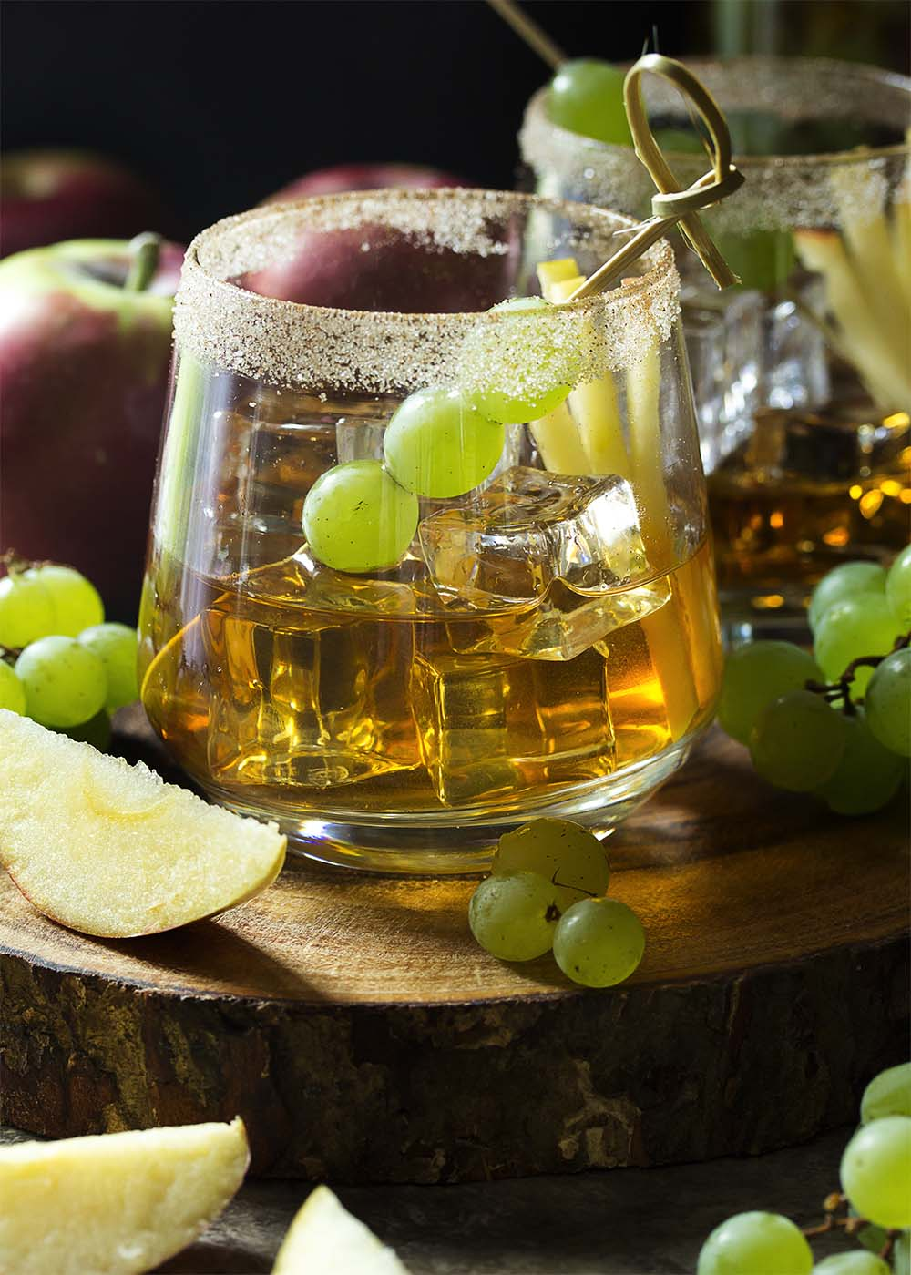 Welcome fall with this maple old fashioned which features maple syrup and apple infused bourbon for a very New England take on the classic cocktail.   justalittlebitofbacon.com