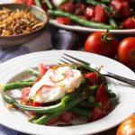 Italian Green Bean Salad with Burrata and Crispy Shallots