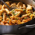 Penne Alla Vodka with Chicken and Chorizo