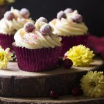 Fresh Cranberry Orange Cupcakes with Cream Cheese Frosting