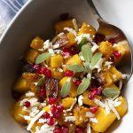 Roasted Butternut Squash Salad with Pomegranate Seeds and Ricotta Salata