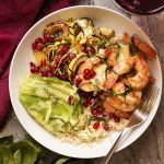 Delicata Squash and Shrimp Rice Bowl