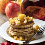 "Sour Cream Apple Cinnamon ""Apple Pie"" Pancakes"