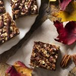 Salted Chocolate Bourbon Pecan Pie Bars