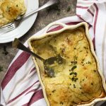 Potato Leek Gratin with Cheddar and Pancetta