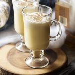 Homemade Hot Spiced Bourbon Eggnog