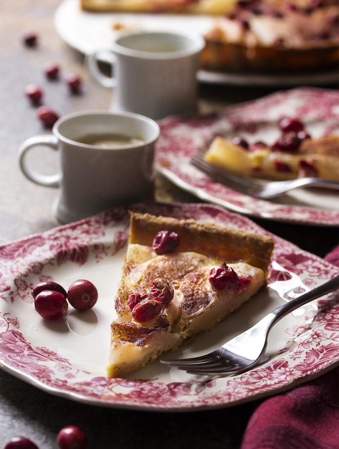 Italian Pear Cranberry Tart
