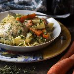 French Chicken Fricassee with Root Vegetables