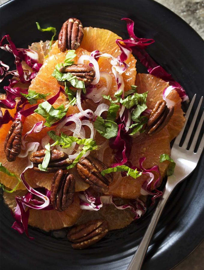 Italian Orange, Radicchio, and Pecan Salad