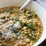 Braised White Beans with Garlic and Arugula