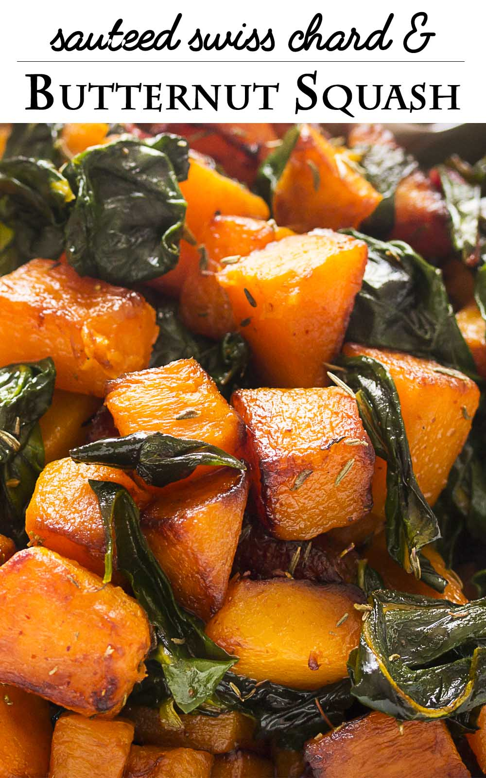 Easy Sauteed Butternut Squash With Swiss Chard Just A