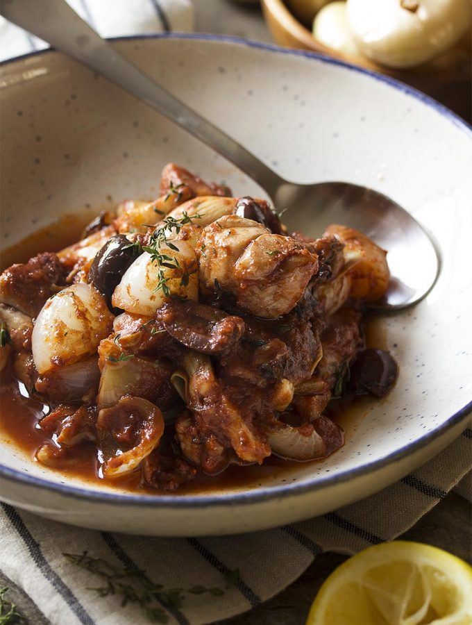 Greek Chicken Stifado (Stew)