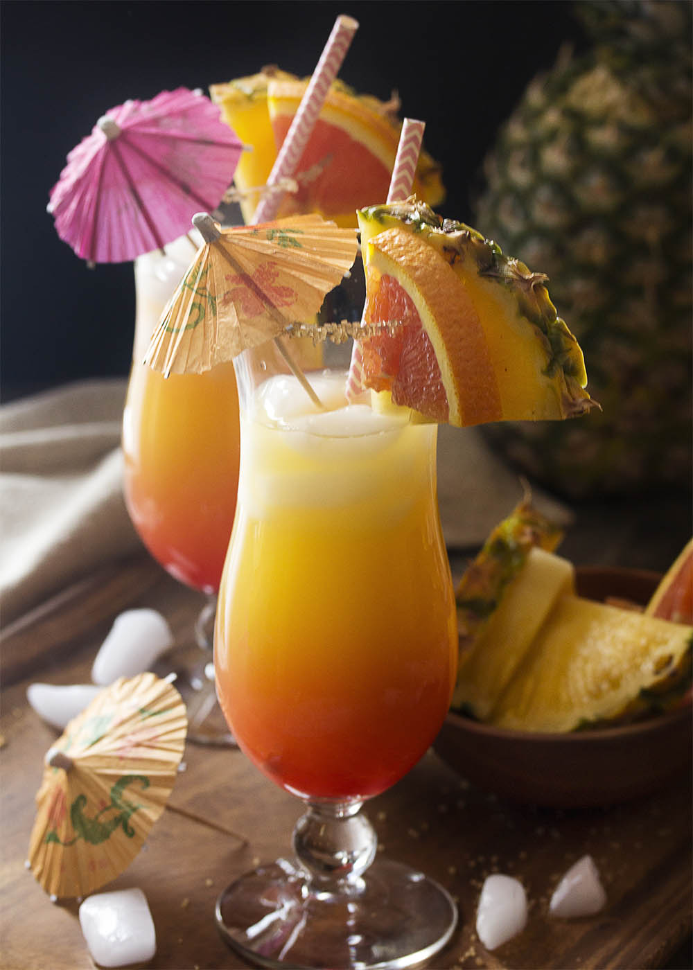 Coconut Orange And Pineapple Rum Punch Just A Little Bit Of Bacon