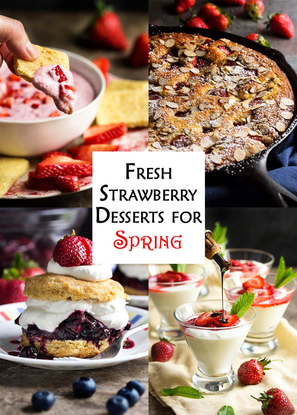 Fresh Strawberry Desserts for Spring title card