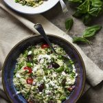 Greek Orzo Salad with Feta and Peas