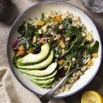 Kale, Radicchio and Freekeh Salad Buddha Bowl