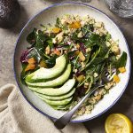 Freekeh is an earthy grain with a complex flavor which you should try! And this vegan freekeh salad buddha bowl with baby kale, radicchio, avocado, and mint is great way to add some freekeh to your diet.