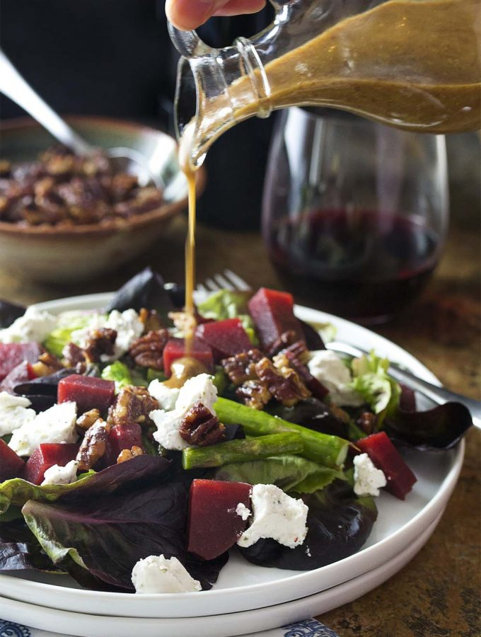 French Country Salad with Asparagus and Roasted Beets