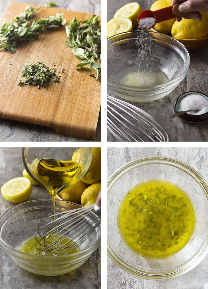 Step by step photos on how to make the oregano sauce