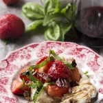 Strawberry Burrata Salad with Balsamic Glaze