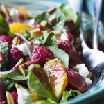 Raspberry Salad with Mixed Greens and Oranges