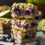Blueberry Lime Oatmeal Crumble Bars