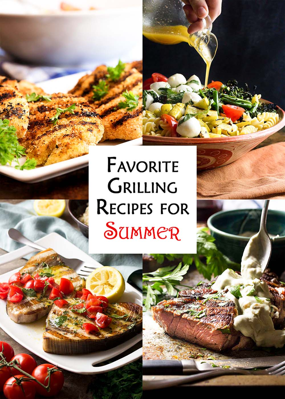 Title card for my favorite grilling recipes