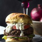 Grilled Greek Burgers with Yogurt Feta Sauce