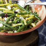Green Bean Salad with Fried Almonds and Goat Cheese