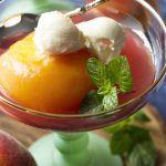 Moscato Wine and Honey Poached Peaches